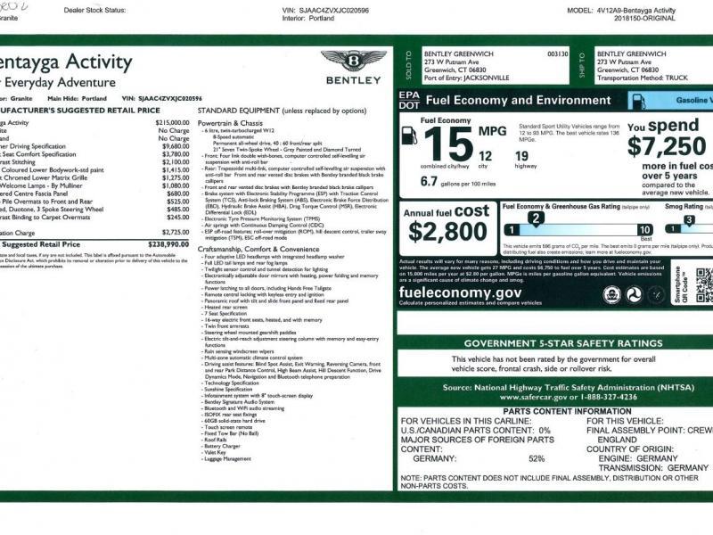 Used 2018 Bentley Bentayga Activity Edition | Gurnee, IL